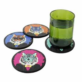 Recycled Rubber Coasters