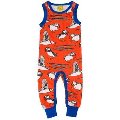 DUNS Puffin Red Dungarees