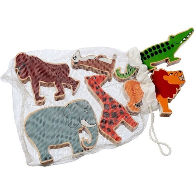 Bag of 6 Natural Animal Figures - World Animals