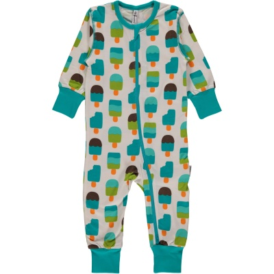 Maxomorra Ice Cream Zip Romper