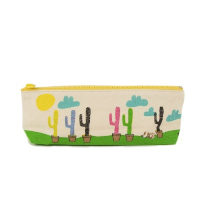 Organic Cotton Pencil Case - Cactus