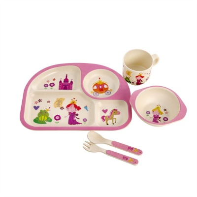 Kids Bamboo Dinner Set - Princess