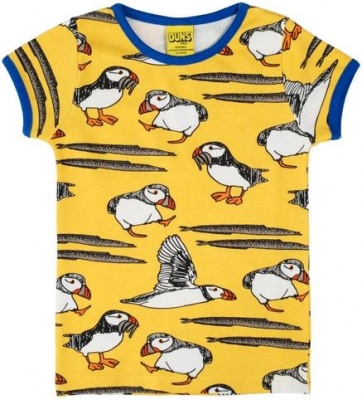 DUNS Puffin Yellow Short Sleeve Top