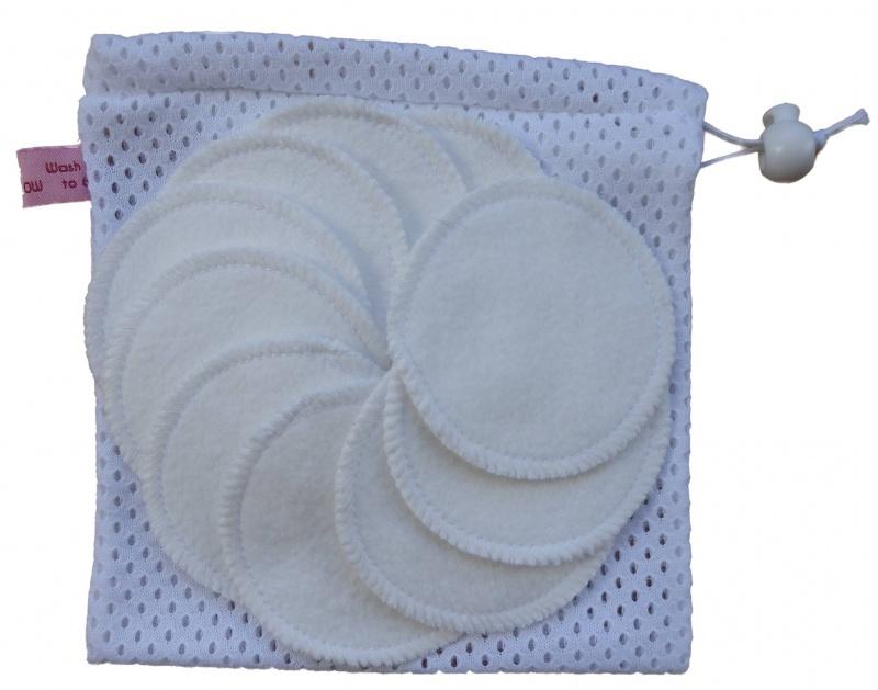 10 Undyed Organic Cotton Round Makeup Wipes Organic