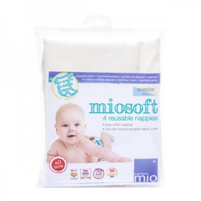 Miosoft Prefold Nappies (4 pack)