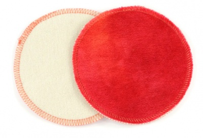 Honour Your Flow Bamboo Velour & Wool Breast Pads - Red Moon