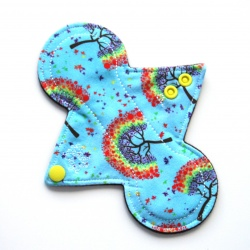 7'' Reusable Panty Liner - Rainbow Trees