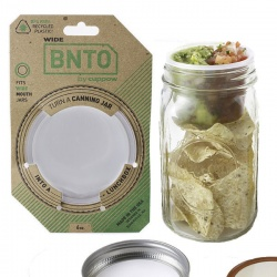 BNTO Canning Jar Lunchbox Adaptor - White