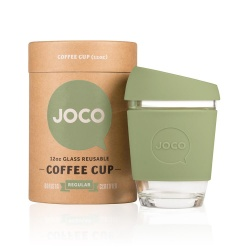 JOCO Cup Reusable Glass Coffee Cup 12oz - Army Green