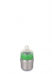 Kid Kanteen 148ml Baby Bottle Brushed Stainless - Slow Flow