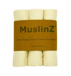 MuslinZ Bamboo - Organic Cotton Unbleached Muslin Squares