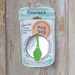 EcoJarz - PopTop Sealable Drinking Jar Lid