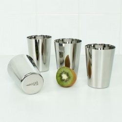 Stainless Steel Cups - Set of 4