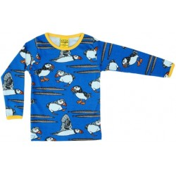 DUNS Puffin Blue Long Sleeve Top