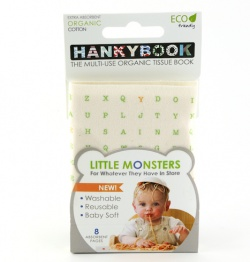 Hanky Book Little Monsters Single - ABC