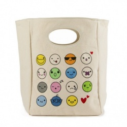 Fluf Organic Lunch Bag - Emoji