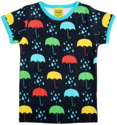 DUNS Dark Blue Umbrella Short Sleeve Top