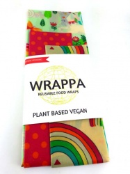 Wrappa Vegan Food Wrap - 3 Pack