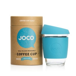 Glass Coffee Cup - Neon Kactus & JOCO Cup