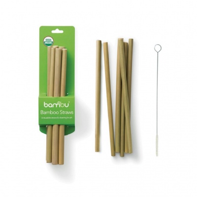 Reusable Bamboo Straws - Set of 6