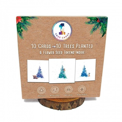 10 Recycled Christmas Cards - 10 Trees Planted