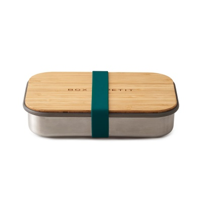 Stainless Steel and Natural Bamboo Lunch Box