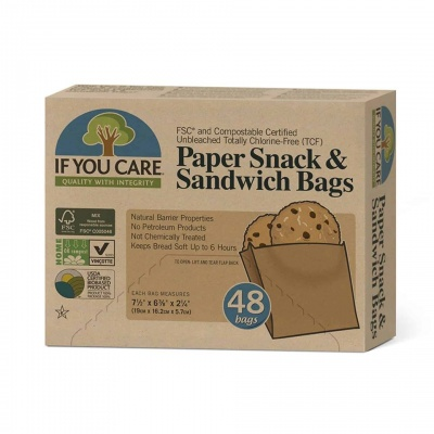 If You Care Sandwich Bags - 48 Bags