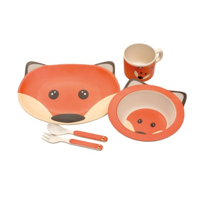 Kids Bamboo Dinner Set - Fox
