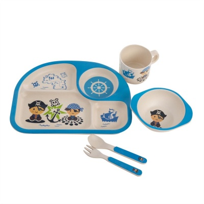 Kids Bamboo Dinner Set - Pirate