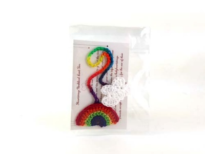 Umbilical Cord Tie - Rainbow & Cloud