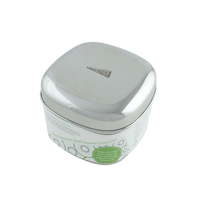 Deep Square Stainless Steel Container
