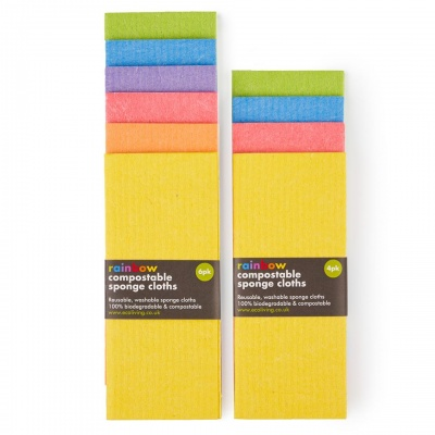 Compostable Sponge Cleaning Cloths (Rainbow)