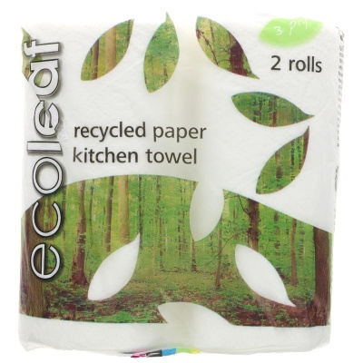 Ecoleaf Recycled Kitchen Towel - 2 Rolls