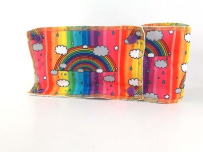 Family Cloth Roll - Rainbow Stripe (Cotton Jersey & Bamboo Terry)
