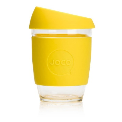 JOCO Cup Reusable Coffee Cup 12oz - Lemon