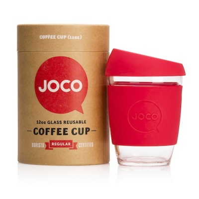 JOCO Cup Reusable Coffee Cup 12oz - Red