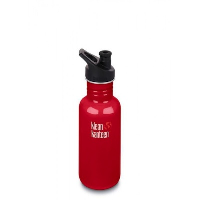 Klean Kanteen Stainless Steel Bottle - 532ml/18oz (Sport Cap)