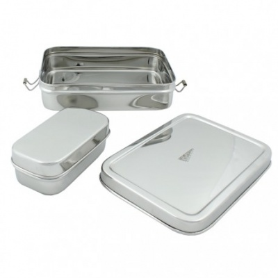 Large Rectangle Lunch Box with Mini Container