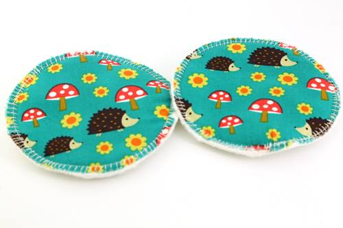 Eco Rainbow 4'' Breast Pads - Hedgehog
