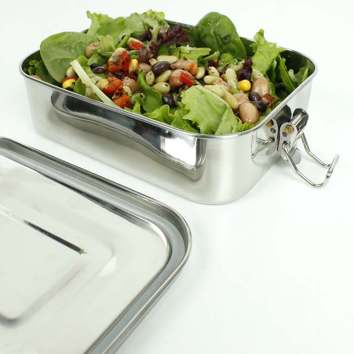 Leak Resistant Lunch Box with Silicone Seal