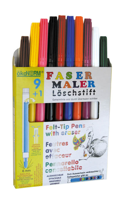 Water Soluble Felt-Tip Colour Pens