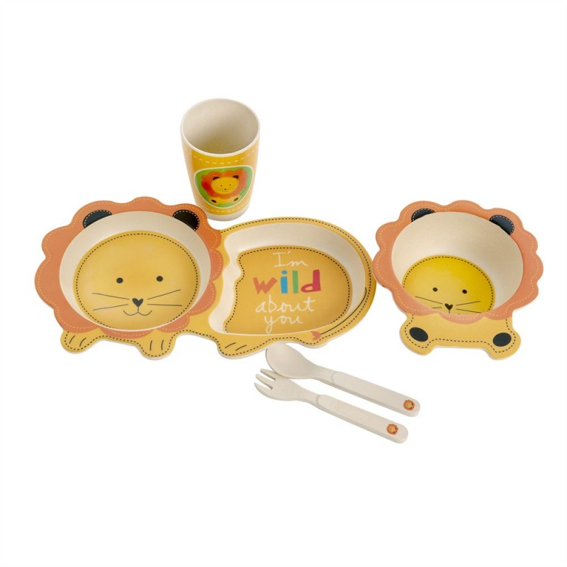 Kids Bamboo Dinner Set - Lion