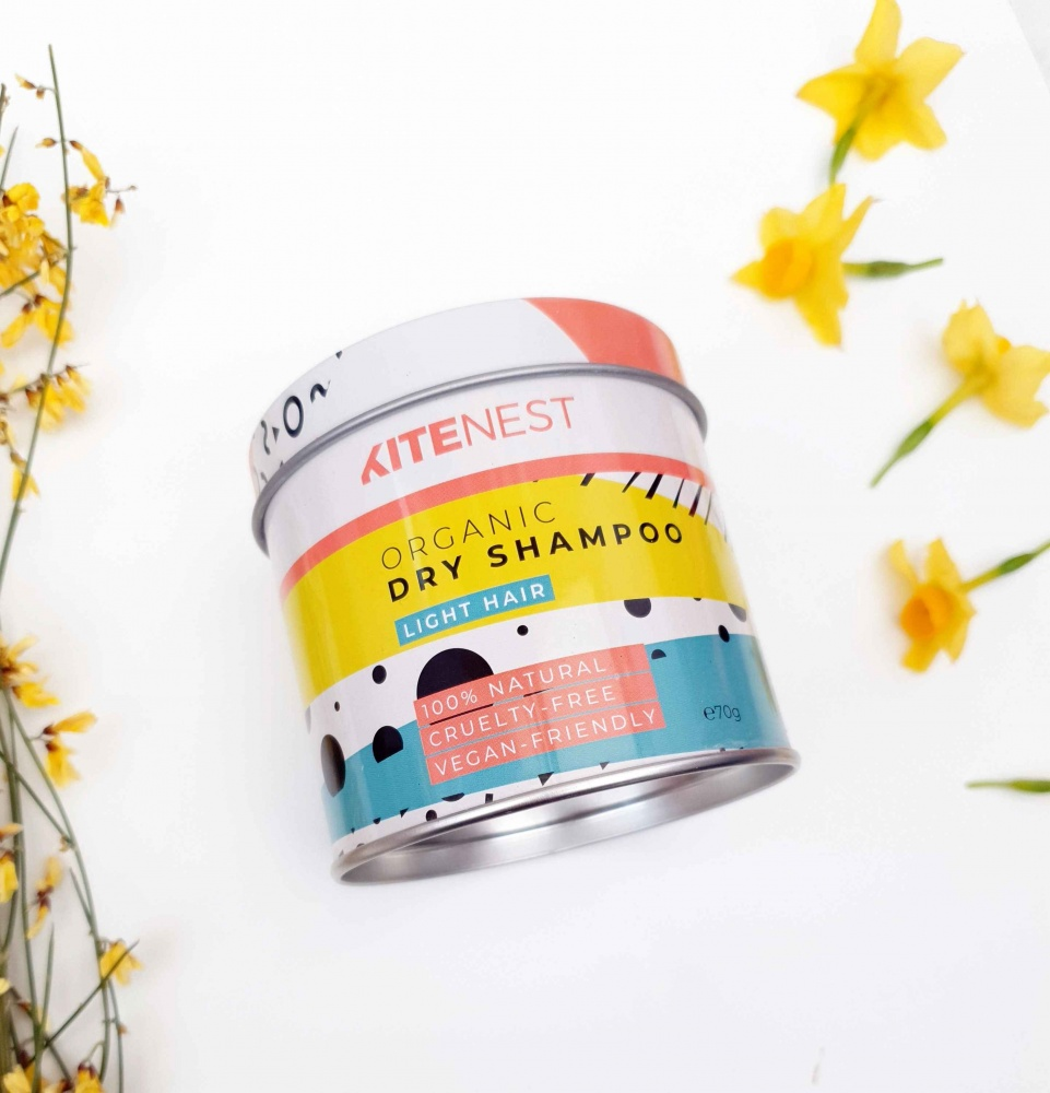 KiteNest Organic Dry Shampoo for Light Tones