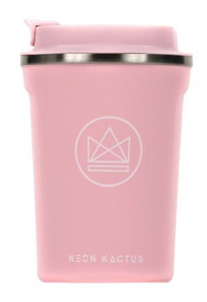 Insulated Stainless Steel Coffee Cup - Neon Kactus