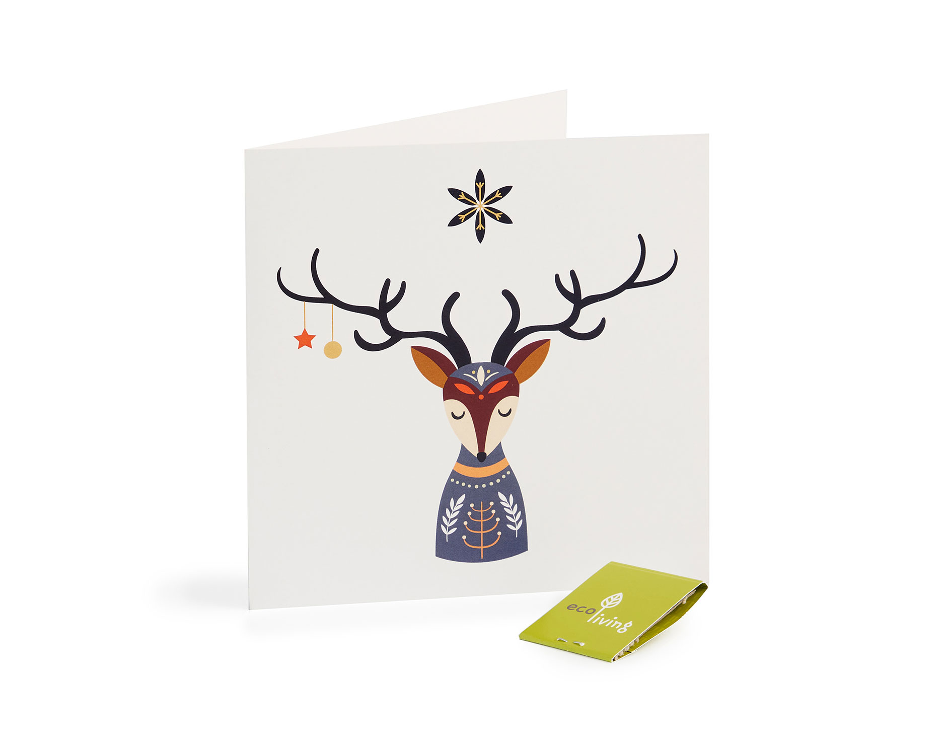 Recycled Christmas Cards - Scandinavian Folk