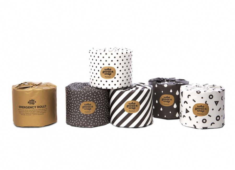 6 Rolls of Who Gives a Crap Premium 100/% Bamboo 3-Ply Toilet Paper Plastic Free