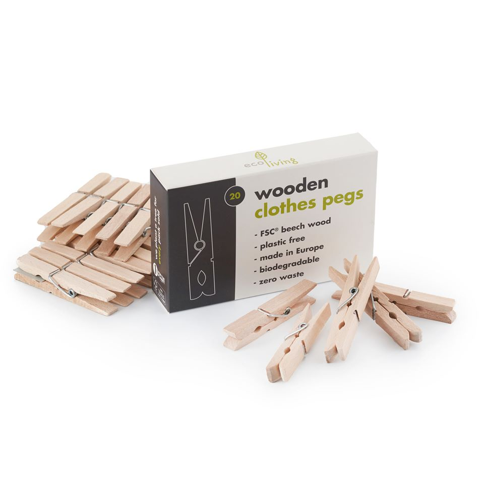 Wooden Clothes Pegs - ecoLiving