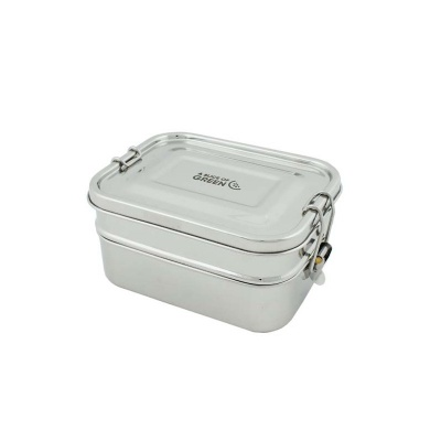 Leak Resistant Two Tier Lunch Box with Silicone Seal