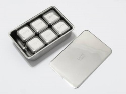 Onyx Stainless Steel Reusable Ice Cubes - 6 Pack