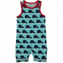 Maxomorra Whale Short Dungarees
